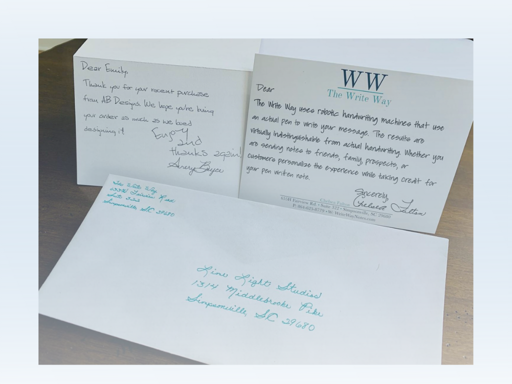 The Write Way: Machines mimic handwritten notes for Greenville-based marketing business